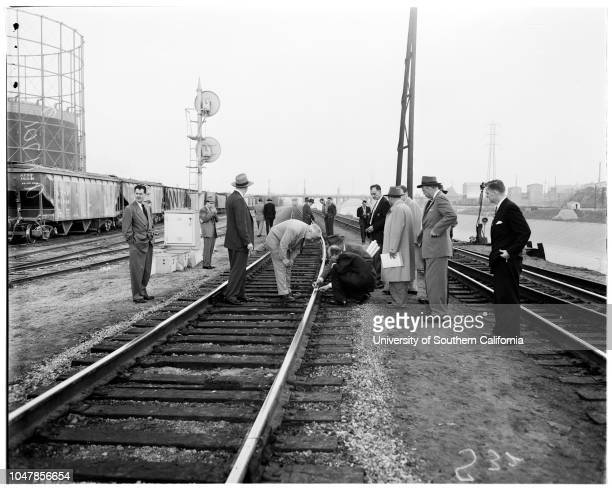 Santa Fe train wreck 24 January 1956 Bob Slonager Sergeant Harry HansenGeorge Wright Sergeant Jack McCreadieDeputy District Attorney Adolph...