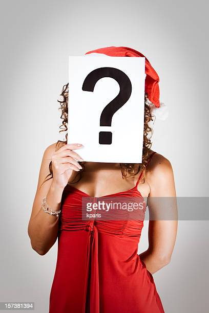Santa Girlie with Question Mark