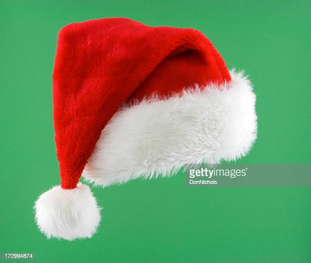 santa hat isolated - santa hat stock photos and pictures