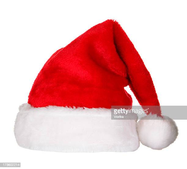 santa hat (clipping path) - hoofddeksel stockfoto's en -beelden