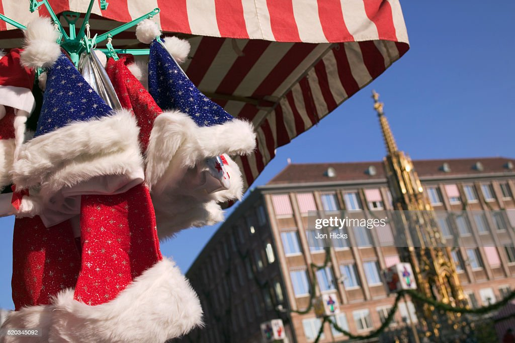 6940008941732 Santa Hats On Sale At Nuremberg Christmas Market Stock Photo - Getty ...