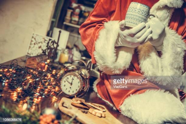 Santa is drinking tea