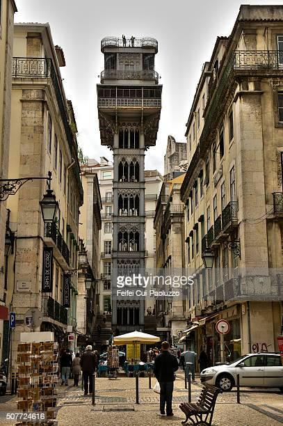 Santa Justa Lift of Lisbon Portugal