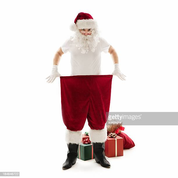 santa lost weight - red pants stock pictures, royalty-free photos & images