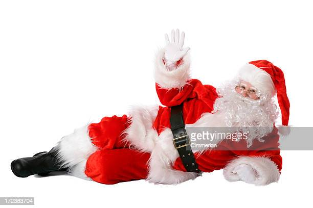 Santa liegen auf Weiß