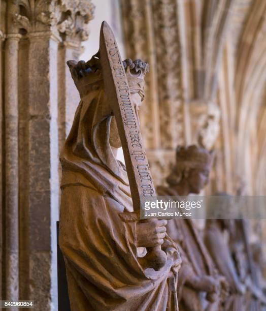 santa maría de león cathedral, leon city, leon province, castilla y leon, spain, europe - sword in the stone stock photos and pictures
