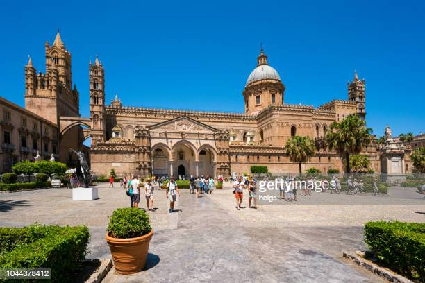 santa maria assunta cathedral in palermo, sicily - palermo sicily stock photos and pictures