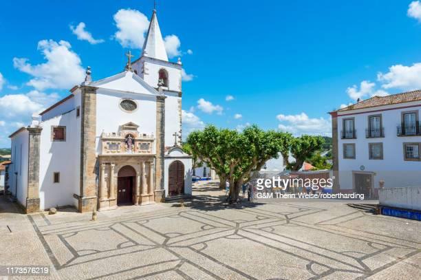 santa maria church, obidos, leiria district, estremadura, portugal, europe - estremadura stock-fotos und bilder