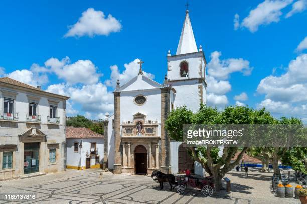 santa maria church, obidos, leiria district, estremadura, portugal - estremadura stock-fotos und bilder