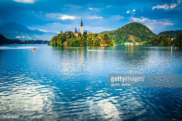 Santa Maria Church on the Lake Bled, Blejsko jezero, Slovenia