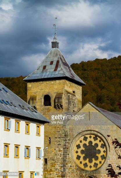 Santa Maria church Roncesvalles Navarre Spain Europe