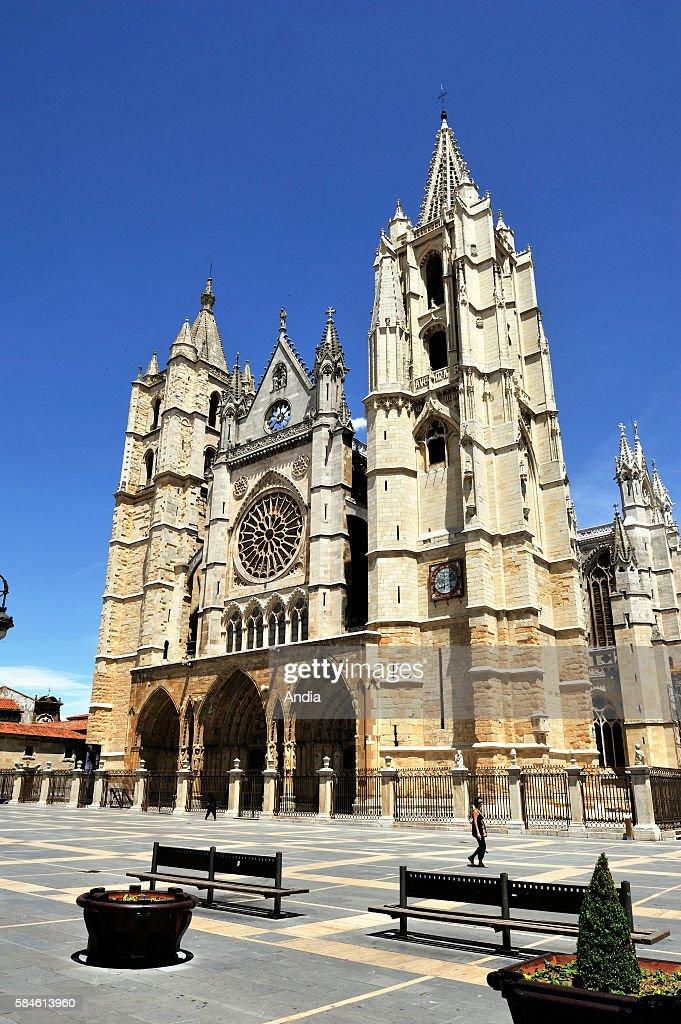 Leon (Spain) : Santa Maria de la Regla's cathedral : ニュース写真