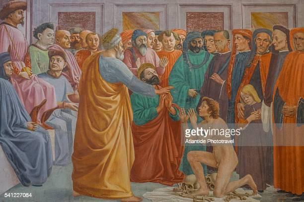 santa maria del carmine, cappella brancacci with frescos by masaccio and filippino lippi - 古典様式 ストックフォトと画像