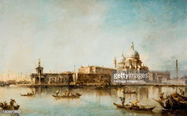 Santa Maria della Salute and the Dogana, Venice, 1760-1790. Artist Francesco Guardi. .