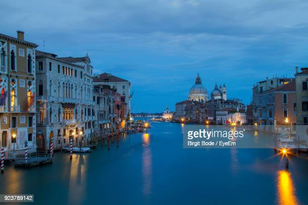 Santa Maria Della Salute By Grand Canal During Sunset