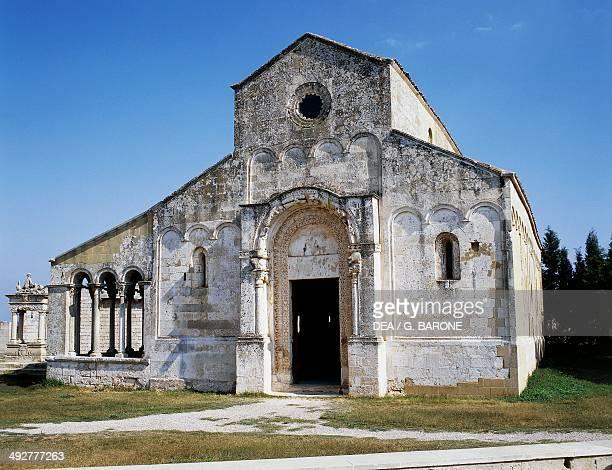 Santa Maria di Cerrate Abbey, 11th-13th century, near Squinzano, Salento, Apulia, Italy.