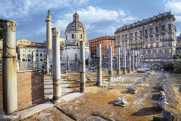 Santa Maria di Loreto & Trajan's Column Rome Italy