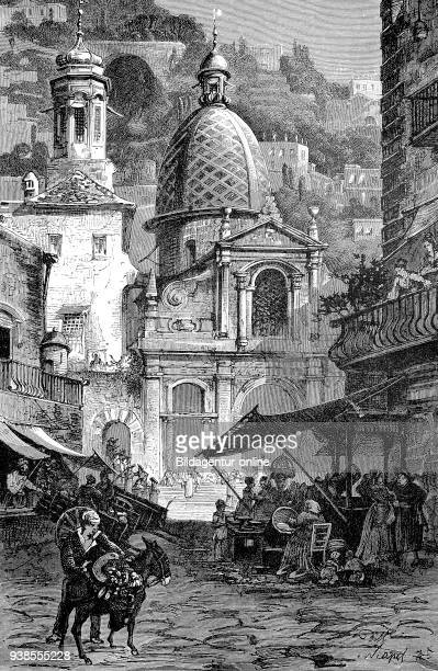 Santa Maria in Portico in Campitelli also called Santa Maria in Portico is a church in Rome Italy from a woodcut of 1880 digital improved