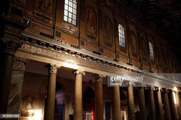 Santa Maria in Trastevere basilica Rome Granite columns Italy