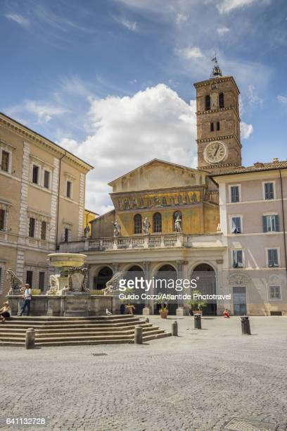 Santa Maria in Trastevere square and church