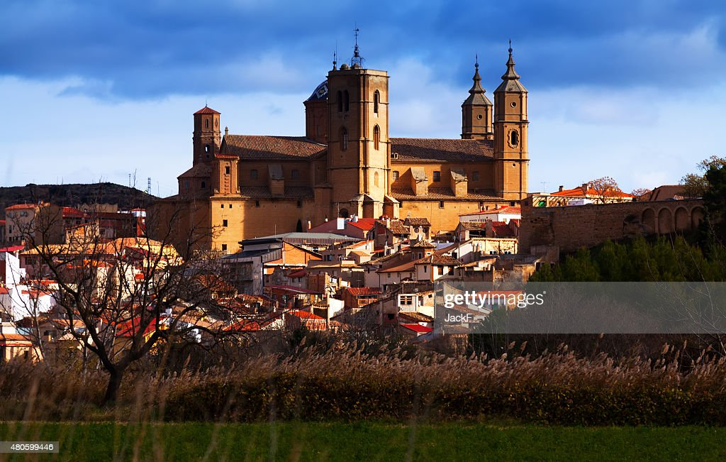 Santa Maria la Mayor church in  Alcaniz : Stock Photo