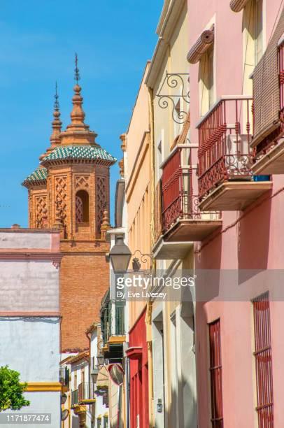 santa maria reparadora convent spires - jerez de la frontera stock pictures, royalty-free photos & images