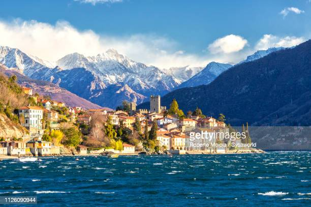 santa maria rezzonico, lake como, italy - chum stock-fotos und bilder