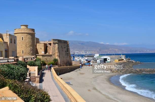 Santa Marta castle in Roquetas de Mar on 2017 Almeria Andalucia Spain
