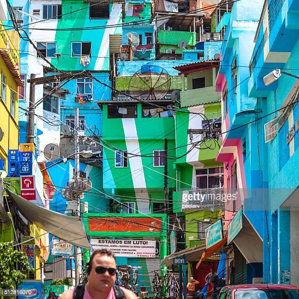 Santa Marta colorido favela. Rio de Janeiro, Brasil.