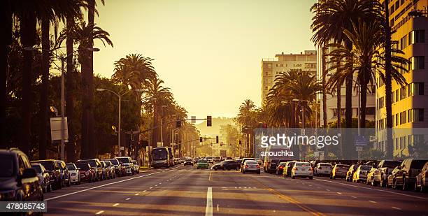 santa monica at sunset - santa monica stock pictures, royalty-free photos & images