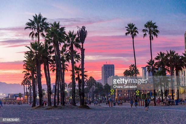 Santa Monica at the sunset
