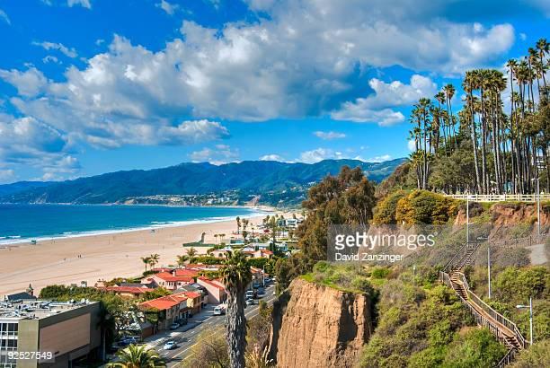 santa monica, bay, ocean, palisades park, - david cliff stock pictures, royalty-free photos & images