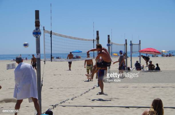 santa monica beach in california - spiking stock photos and pictures