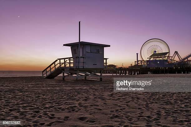 Santa Monica Beach lifeguard hut