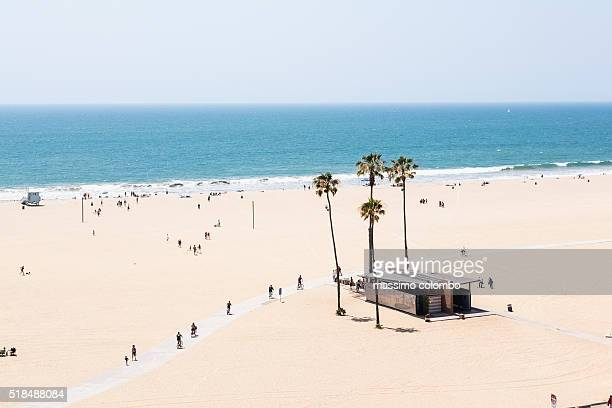 santa monica beach, los angeles, california, usa - de stad los angeles stockfoto's en -beelden