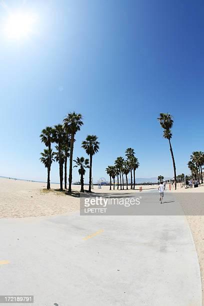 Santa Monica Beach On A Hot Summers Day