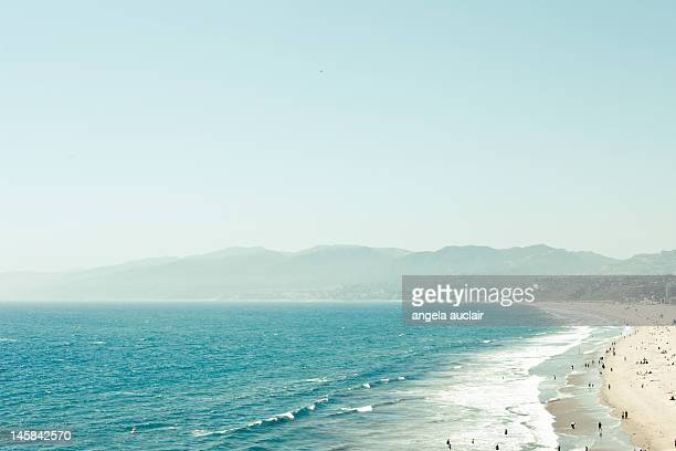 santa monica beach - la beach stock pictures, royalty-free photos & images