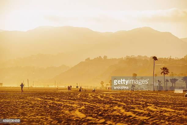 santa monica beach - santa monica stock pictures, royalty-free photos & images