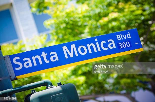 Santa Monica Blvd sign