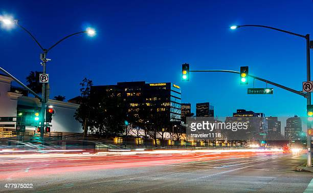Santa Monica Boulevard In Beverly Hills, California