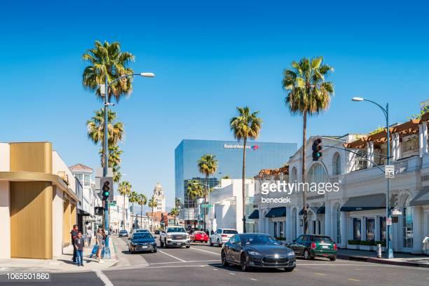 Santa Monica Boulevard in Beverly Hills Los Angeles California USA