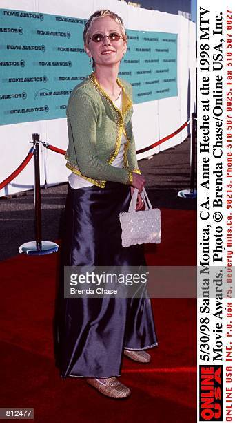 Santa Monica CA Anne Heche at the 1998 MTV Movie Awards The program hosted by Samuel L Jackson will be broadcast on MTV Thursday June 4 from 911 PM...