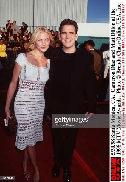 Santa Monica CA Cameron Diaz and Matt Dillon at the 1998 MTV Movie Awards The program hosted by Samuel L Jackson will be broadcast on MTV Thursday...