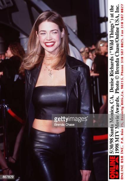 Santa Monica CA Denise Richards at the 1998 MTV Movie Awards The program hosted by Samuel L Jackson will be broadcast on MTV Thursday June 4 from 911...