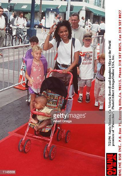 Santa Monica Ca Vicotria Rowell and daughter Miya at the premiere of Pinocchio