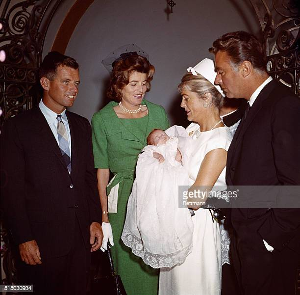 Santa Monica, Calif: President Kennedy's newest niece, Robin Elizabeth Lawford, was christened today at St. Monica's Catholic Church. Actor Gary...