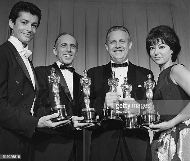 Santa Monica California The film West Side Story made a clean sweep of the 34th annual Academy Award presentations and posed here are four of the...