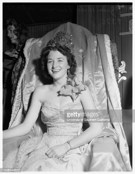 Santa Monica Community Fair Queen 28 October 1951 Queen Madge LawrenceDonna MichaelsBeverly NelsonGeri GeorgeVon Ryder Third PlaceRobin Frizzell...