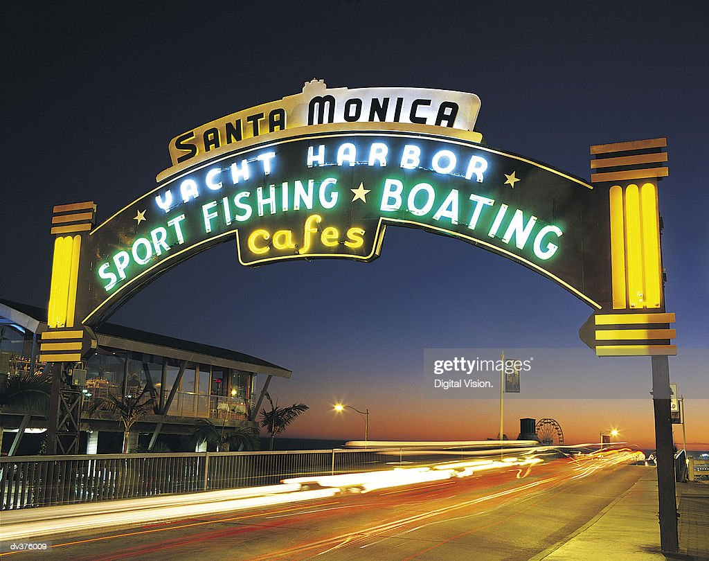 Santa Monica Harbour, California, USA : Stock Photo