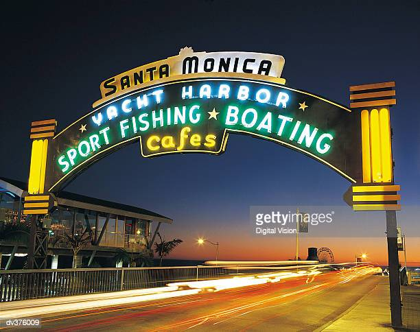 santa monica harbour, california, usa - santa monica stock-fotos und bilder